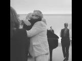El abrazo de Claudio Rissi con Uma Thurman
