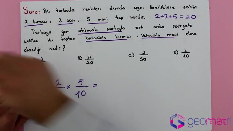 8. Sınıf Olasılık 2 ►Bağımsız Olaylar (TEOG) - Konu Anlatımı ve Soru Çözümleri