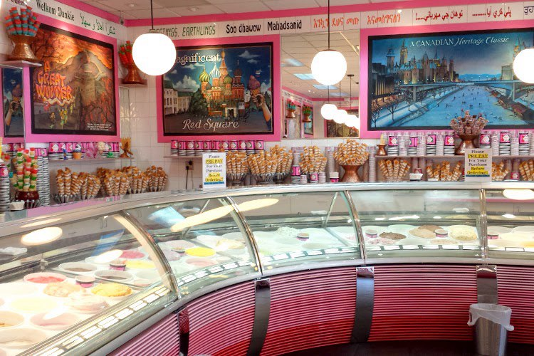 магазин мороженого