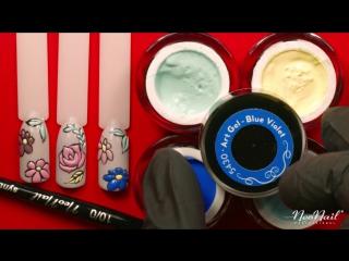 Мастер-класс Летняя мозаика- дизайн по гель-лаку гель-красками от NeoNail