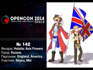 OPENCON-2014: ANO-36 Skiaru&Mel - Hetalia: Axis Powers - America&England