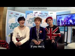 [ENG SUB] 161105 BLOCK B BASTARZ reaction on MBC Music Core!