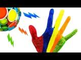 Узнаем цвета на пальцах Для детей Learn Colors for Children Body Paint Finger Song Nursery Rhymes