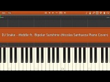 DJ Snake - Middle ft. Bipolar Sunshine (Nicolas Sanhueza Piano cover TUTORIAL)