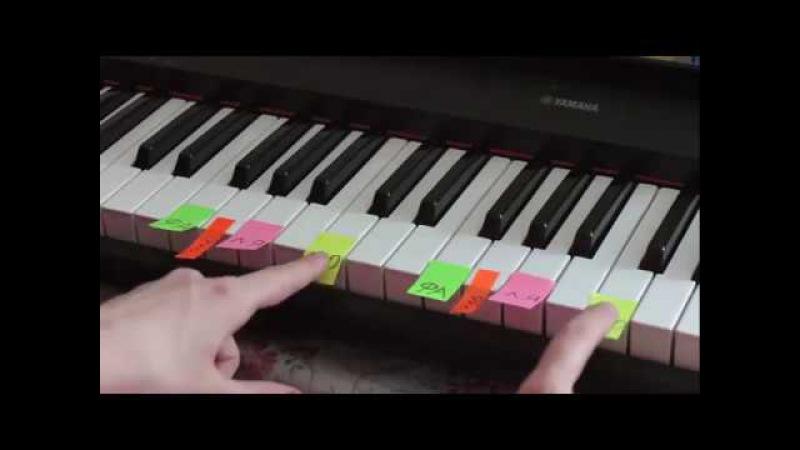 Играем на ПИАНИНО ДВУМЯ руками Красивая мелодия