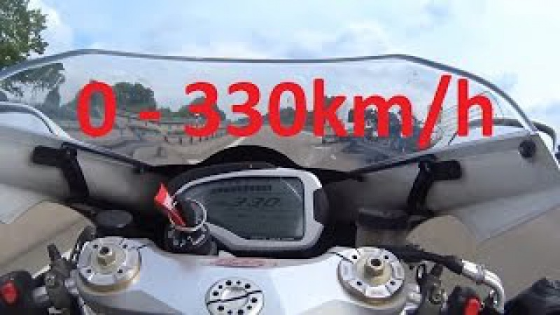 2017 MV Agusta F4 RR - Acceleration 0 - 330km/h Exhaust Sound Start up