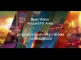Brett Walter - Houdini FX Reel - June 2017