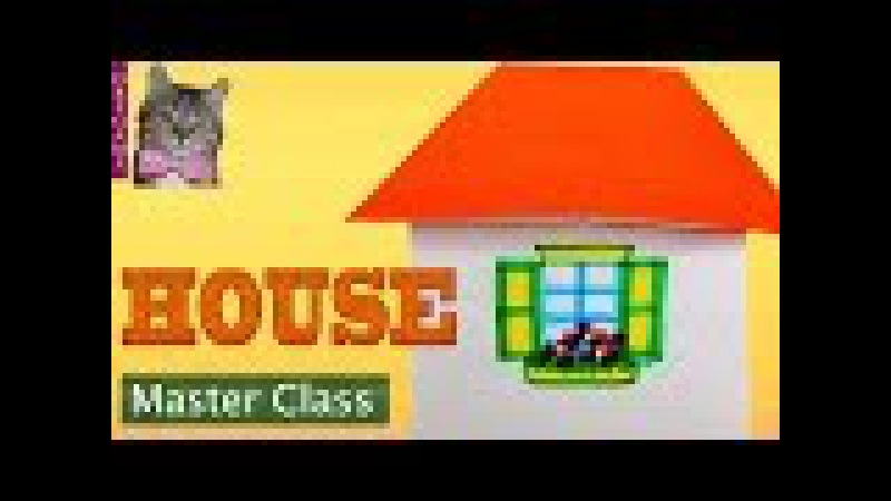 Easy origami. A paper house with a window. Origami master class for children
