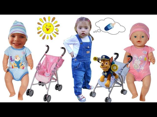 Кукла Беби Бон с Коляской на самой любимой детской площадке Едем с Горки