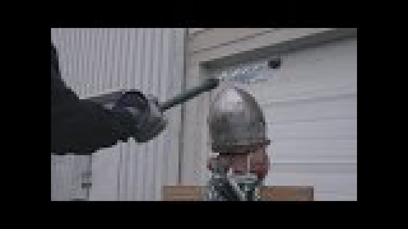 Helmet tests, part 5 - Bascinet vs. axe, mace, hammer, flail (plus poleaxe fail)