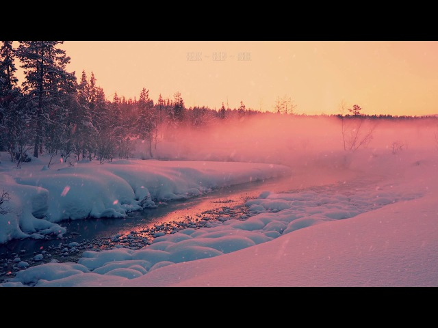 🎧 Relaxing Sounds of Snow Falling, Wind and Quiet Misty Stream Flowing Near the Forest - 10 Hrs Video
