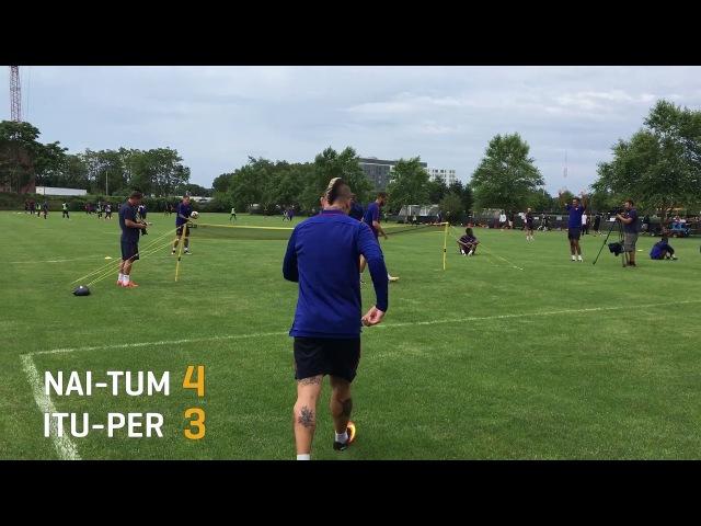 Roma Football Tennis Cup Четвертьфинал 3: Nainggolan Tumminello v Iturbe Peres