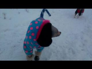 и тут Лина поняла что ей зима не нравится совсем