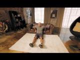 Отжимания на трицепс  диван вместо тренажер.Домашние тренировки с Денисом Семенихиным
