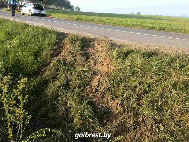 В Брестском районе автомобиль вылетел в кювет: пострадала 70-летняя пассажирка