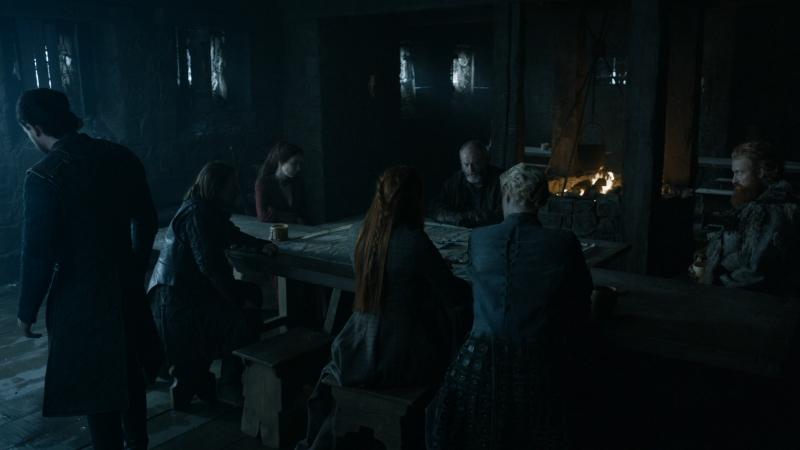 Игра Престолов - Санса Старк, Джон Сноу и другие из их команды обсуждают привлечение новых союзников для войны с Болтонами.