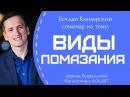Богдан Кинзерский / Виды помазания / Семинар 8.04.2017