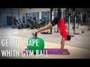 19 gym ball exercises for get in shape fast. Stability ball workout