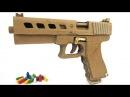Как сделать пистолет Глок 19, который стреляет пулями - (Картонный пистолет с обой