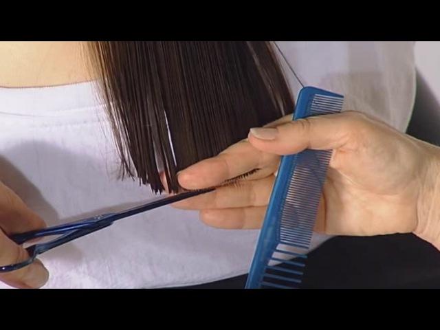 Классическая стрижка КАСКАД «слоистая» на длинные волосы