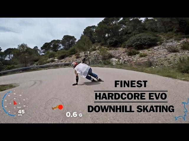 Finest HARDCORE EVO Downhill skating - Powerslide Inline Skates Ennui Protection