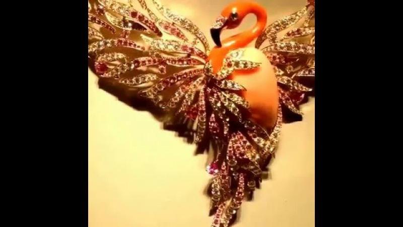 Колье Van Cleef Arpels Flamant Сorail (Розовый Фламинго )