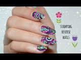 Reverse stamping technique - Nail tutorial