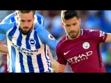 Manchester City manager Pep Guardiola was relieved to see his side overcome promoted Brighton after