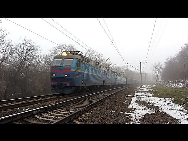 Електровози ЧС7-293, ЧС7-190, перегін Мерефа - Бірки ПІВД. ЗАЛ.
