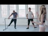 Кроссфит атлеты на занятии с профессиональной балериной выглядят очень весело