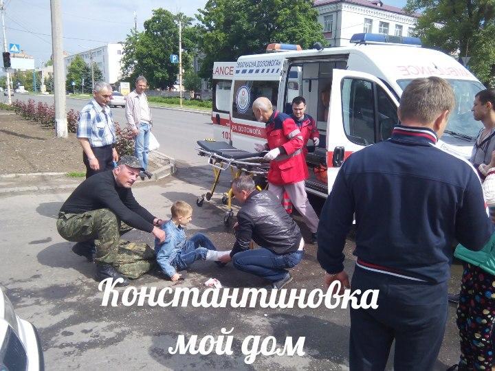 2 мальчика попали в аварию в константиновке