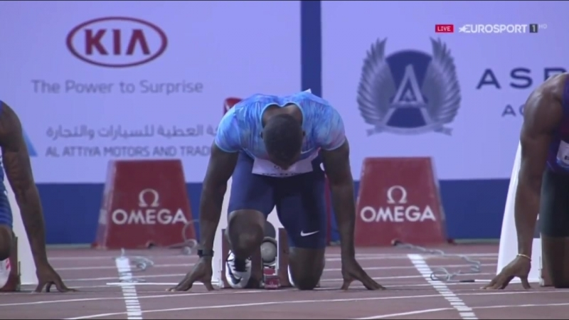 Akani Simbine Wins Mens 100m IAAF Diamond League Doha 2017