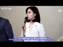 [RUS SUB] Eunjung's speach @ Night Is Coming premiere - Bucheon International Fantastic Film Festival