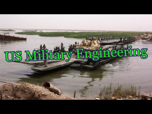 Road construction - US Military Engineering Строительство дорог - военная техника США