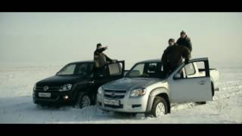 Напрямик. Mazda BT-50, VW Amarok. Off-road в снегу.