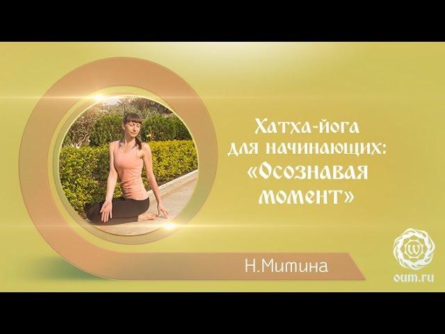 Йога для начинающих. Видео уроки. Хатха-йога для начинающих: «Осознавая момент». Наталья Митина