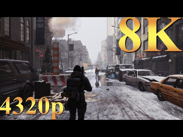 Tom Clancy's The Division 8K 4320p Gameplay Titan X Pascal SLI PC Gaming 4K | 5K | 8K and Beyond