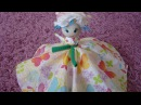 Как сделать куклу за 3 минуты. Кукла из салфеток своими руками. Поделки для детей