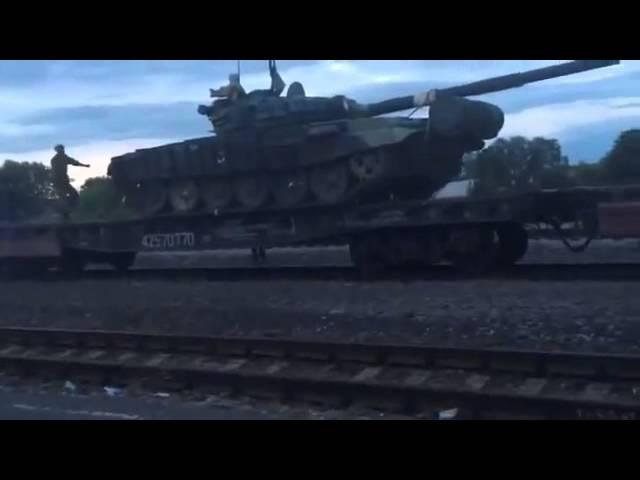 Россия. Эшелоны с танками движутся в сторону Украины 11/07/14.
