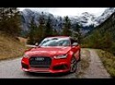 2017 605hp Audi RS6 Avant Performance in the Alps Driving exhaust exterior etc