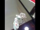 Кольцо с камнем в форме сердца! Бриллианты, белое золото.