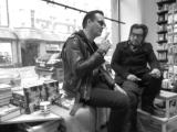 Jyrki Linnankivi Jonathan Shaw at Nide bookstore 2 Helsinki 08.02.2017