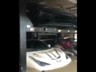 Ураган Ирма затопил спорткары в США