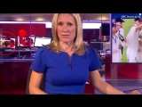 BBC newsreader Sophie Raworth upstaged by graphic video