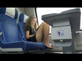 WOMENS GUSSET OF NYLON TIGHTS IN THE TRAIN ⁄ SHORT DRESS AND PUBLIC LEGS  ⁄  НОЖКИ