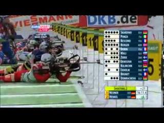 Биатлон Сезон 2010 2011 8 й этап Кубка мира Женщины Масс старт 12,5 км 13 02 20116