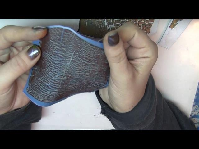 Зарисовка. Кулон в смешанной технике. Кракелюр из полимерной глины.