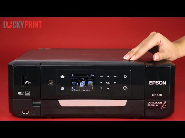 Обзор МФУ для фотопечати Epson XP-630 картриджами Lucky Print