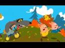 Мультфильм Три Поросёнка и Голодный Волк - Мультики для малышей. Развивающий мультфильм-приложение