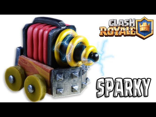 How to Make SPARKY CHISPITAS Clash Royale Cold Porcelain Polymer Clay Tutorial